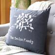 Lisa Angel Personalised Dark Grey 'Family Tree' Cushion Cover