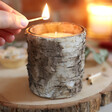 Lisa Angel Birch Bark Glass Candle