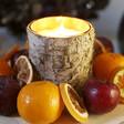 Birch Bark Glass Candle