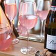 Lisa Angel Delicate Gold Rimmed Pink Wine Glass