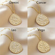 Lisa Angel Gold Sterling Silver Hammered Zodiac Constellation Necklace