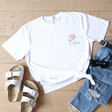 Lisa Angel Ladies' Personalised Embroidered Colourful Birth Flower T-Shirt