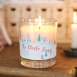 Personalised Christmas Scene Scented Candle Gift
