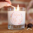 Lisa Angel Ladies' Personalised Floral Autumn Wreath Scented Candle