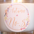 Lisa Angel Personalised Floral Autumn Wreath Scented Candle