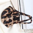 Lisa Angel Dark Leopard Print Fabric Face Mask