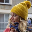 Lisa Angel Ladies' Soft Knit Bobble Hat in Mustard