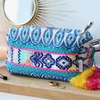 Lisa Angel Ladies' House of Disaster Fiesta Blue Embroidered Jacquard Make Up Bag
