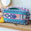Lisa Angel House of Disaster Fiesta Blue Embroidered Jacquard Make Up Bag