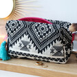 Lisa Angel Ladies' House of Disaster Fiesta Monochrome Embroidered Jacquard Make Up Bag