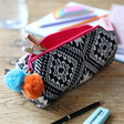 Lisa Angel Ladies' House of Disaster Fiesta Monochrome Embroidered Jacquard Pouch