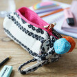 Lisa Angel Colourful House of Disaster Fiesta Monochrome Embroidered Jacquard Pouch