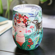 Lisa Angel with House of Disaster Frida Kahlo Travel Cup