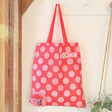 Lisa Angel with Eco Friendly House of Disaster Recycled Moomin Little My Shopper Tote