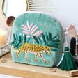 Lisa Angel Ladies' House of Disaster Savannah Leopard Make Up Bag