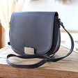 Women's Faux Leather Cross Body Handbag in Black