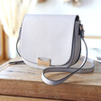 Women's Faux Leather Cross Body Handbag in Grey