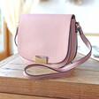 Ladies' Faux Leather Cross Body Handbag in Pink