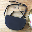 Lisa Angel Ladies' Half Moon Crossbody Bag in Black