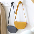 Lisa Angel Small Yellow and Black Half Moon Crossbody Bags