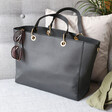 Lisa Angel Large Black Shopper Tote
