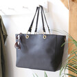 Lisa Angel Ladies' Large Black Shopper Tote