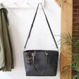 Lisa Angel Vegan Leather Large Black Shopper Tote