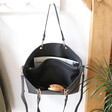 Lisa Angel Spacious Large Black Shopper Tote