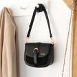 Lisa Angel Ladies' Black Personalised Vegan Leather Crossbody Handbag