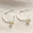Women's Estella Bartlett Daisy Charm Hoop Earrings in Silver