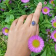 Sterling Silver Vintage Style Mood Stone Ring on Model