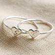 Lisa Angel Ladies' Personalised Sterling Silver Heart Ring