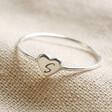 Lisa Angel Engraved Personalised Sterling Silver Heart Ring