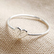 Lisa Angel Delicate Personalised Sterling Silver Heart Ring