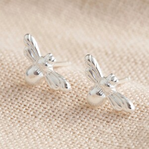 Sterling Silver Bumblebee Stud Earrings