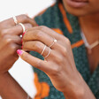 Sterling Silver Chain Ring on Model