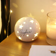 Personalised Starry White Ceramic LED Ball Light