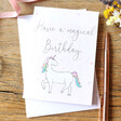 Lisa Angel 'Magical Birthday' Unicorn Greeting Card