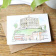 Lisa Angel Owen Mathers Colourful Illustrated Norwich Castle Card