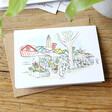 Lisa Angel Owen Mathers Colourful Illustrated Norwich Market Card