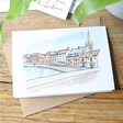 Lisa Angel Owen Mathers Colourful Illustrated Norwich Quayside Card