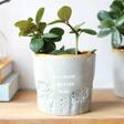 Lisa Angel Ladies' Glazed Ombré 'Blooming Amazing Mum' Planter