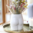 Lisa Angel Cheeky Ceramic Speckled Bum Vase