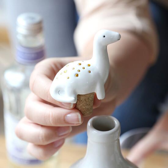 Diplodocus Dinosaur Bottle Stopper