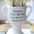 Lisa Angel Personalised Ceramic Speckled Trophy Vase