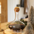 Festive Wine Carafe with Personalised Oak Stopper