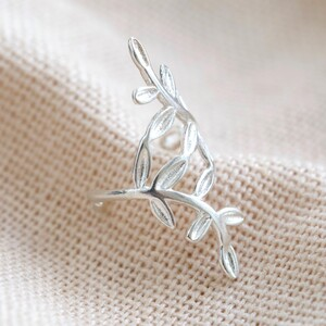 Sterling Silver Fern Ear Cuff