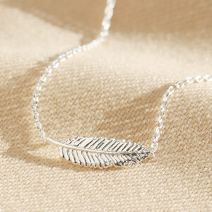 Delicate Sterling Silver Feather Necklace