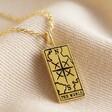 Lisa Angel Ladies' Gold 'The World' Tarot Card Pendant Necklace