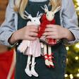 Lisa Angel Ballerina Reindeer Doll Decorations